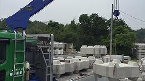 コンクリート二次製品の輸送